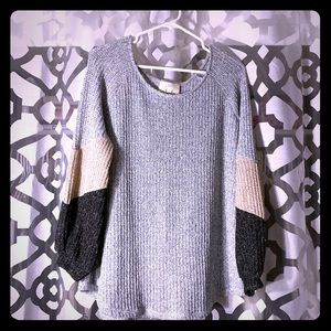 Tricolor Oversized Sweater